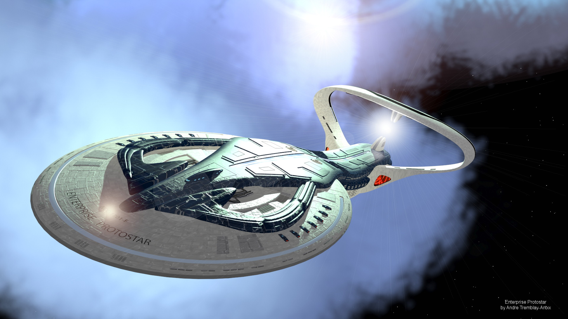 Bien-aimé Star Trek Enterprise Protostar Wallpapers – 3dDub WJ28