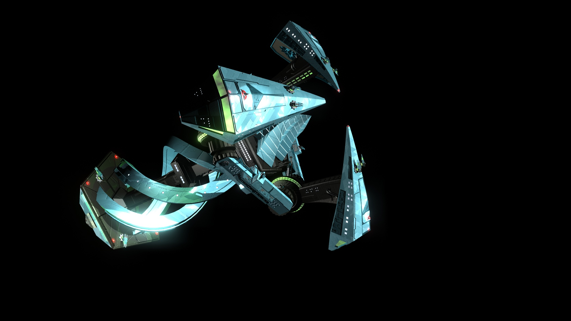QulHov Firestar Klingon starbase